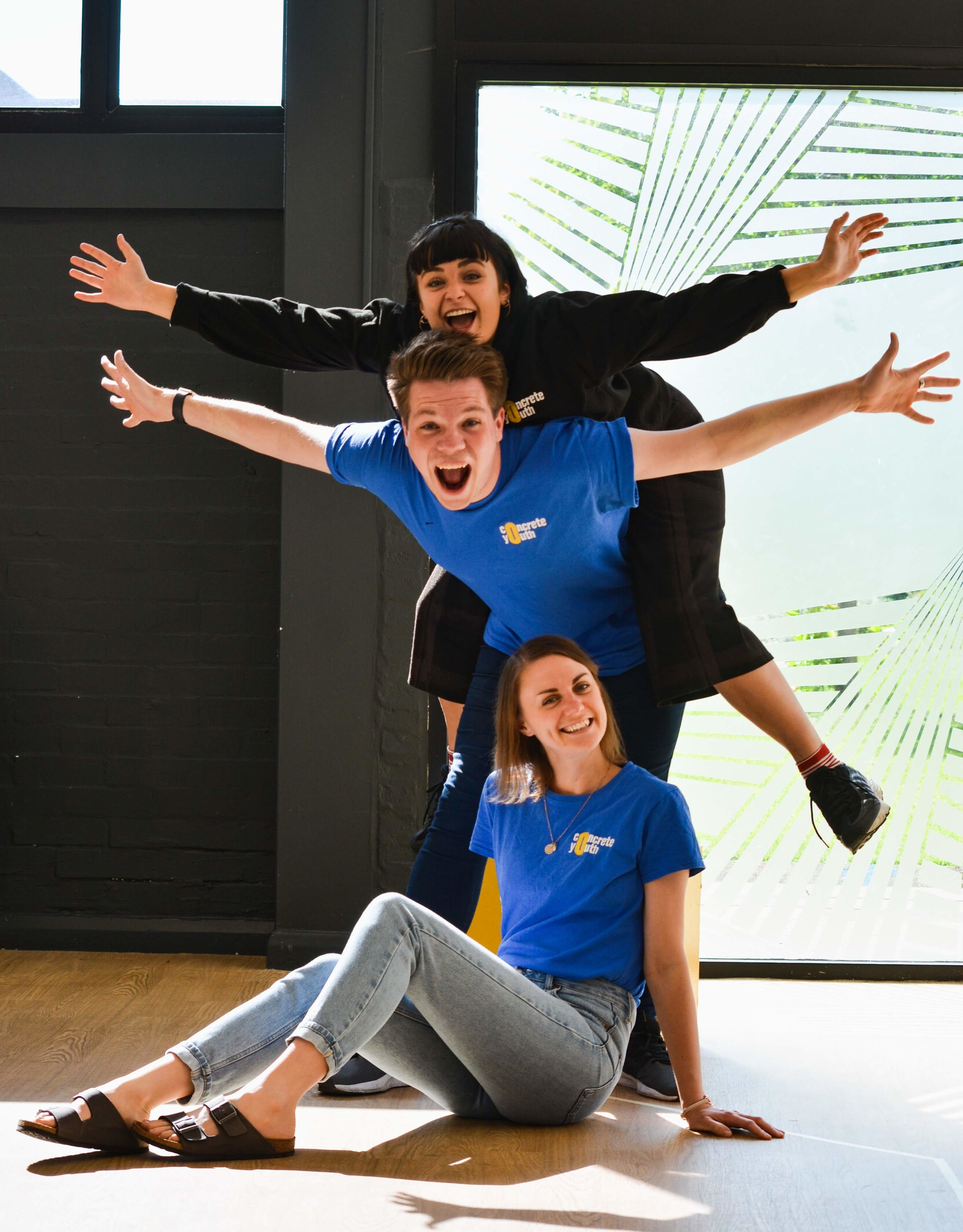 Introducing Concrete Youth. From top to bottom: Annabel Streeton (Associate Director), Daniel Swift (Artistic Director), Elle Douglas (Education Coordinator). Photo:  EHD Photography .