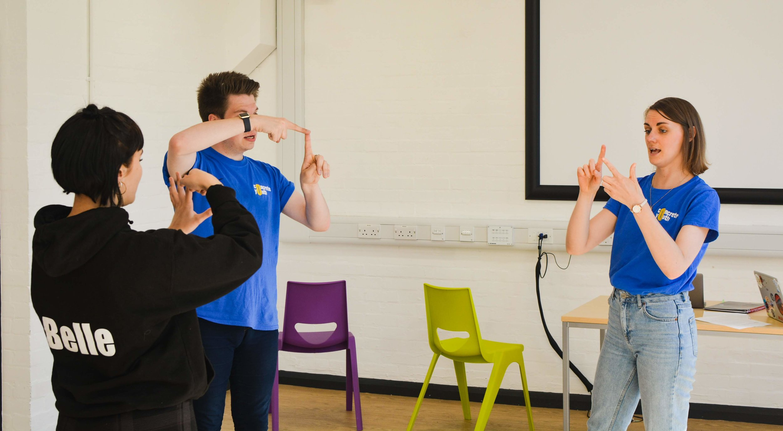 Concrete Youth practicing their sign language (Photo:  EHD Photography )