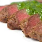 Pan Roasted Flat Iron Steak with Chimichurri & Sweet Summer Corn Succotash - View Recipe
