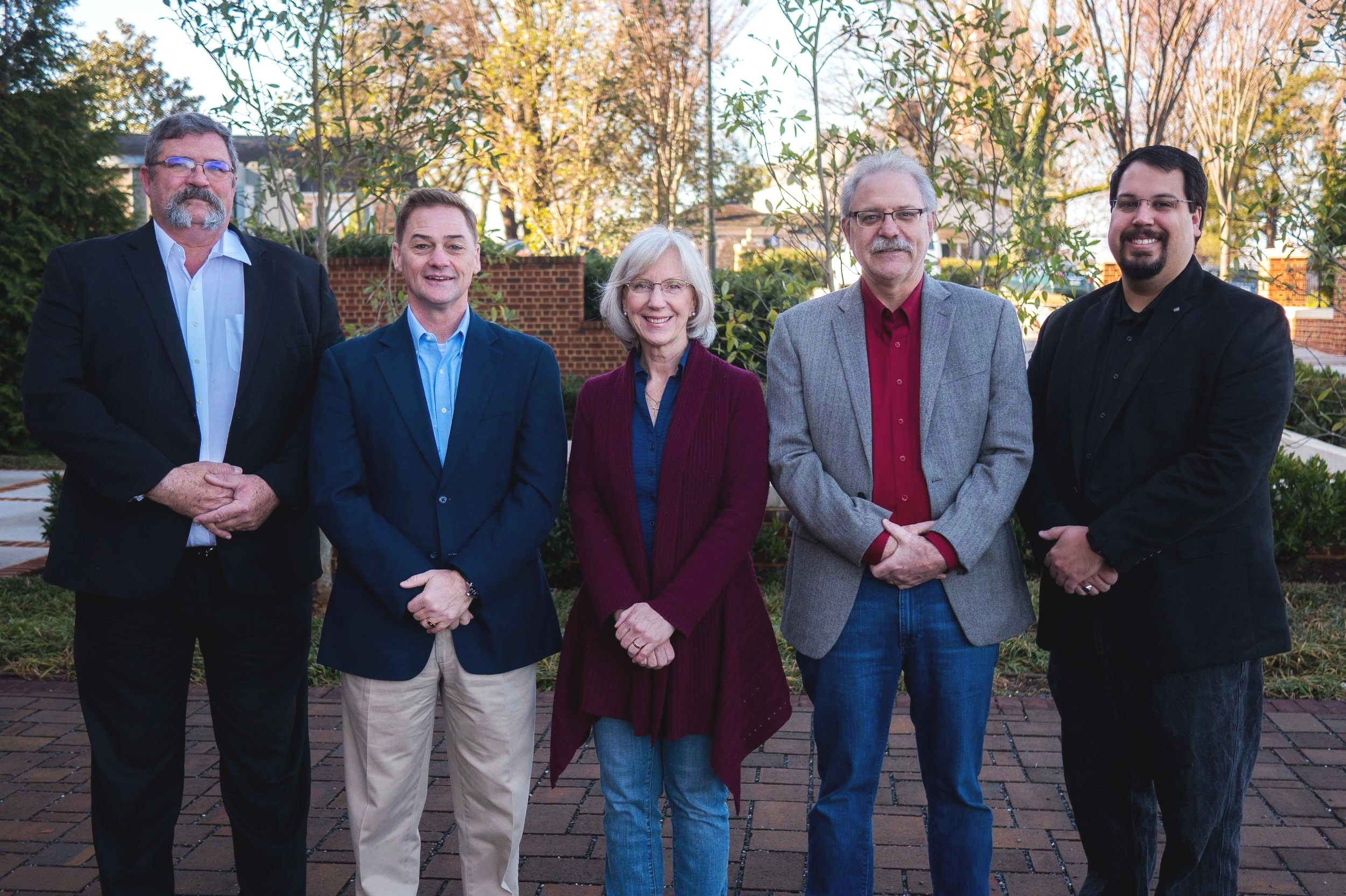 Together With Hope - Board of Directors | (Left to Right) Stephen Parke, James Cook, Kathy Bogacz, Jerry Bogacz & Jonathan Giles