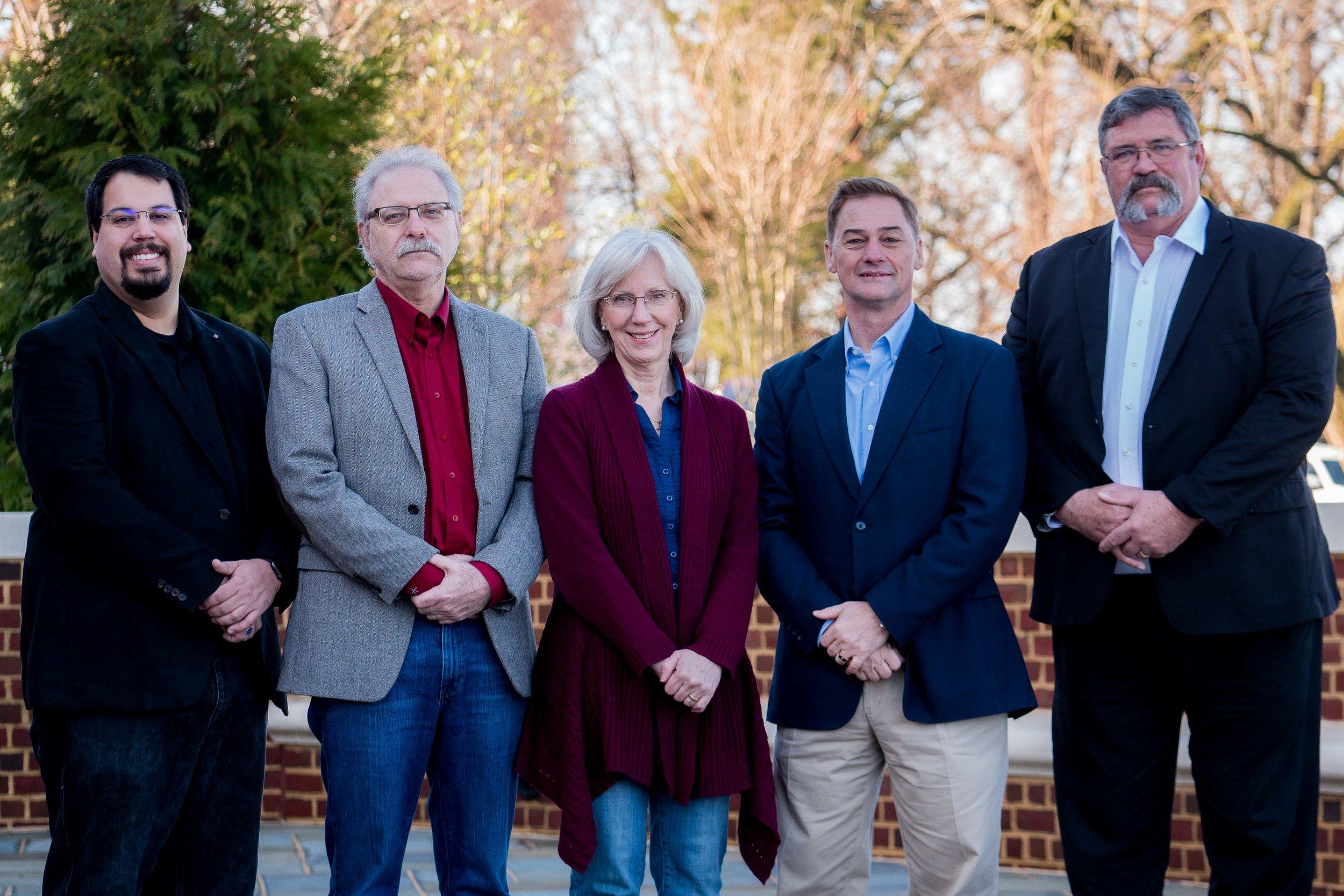 (From Left to Right) Jonathan Giles, Jerry Bogacz, Kathy Bogacz, James Cook & Stephen Parke