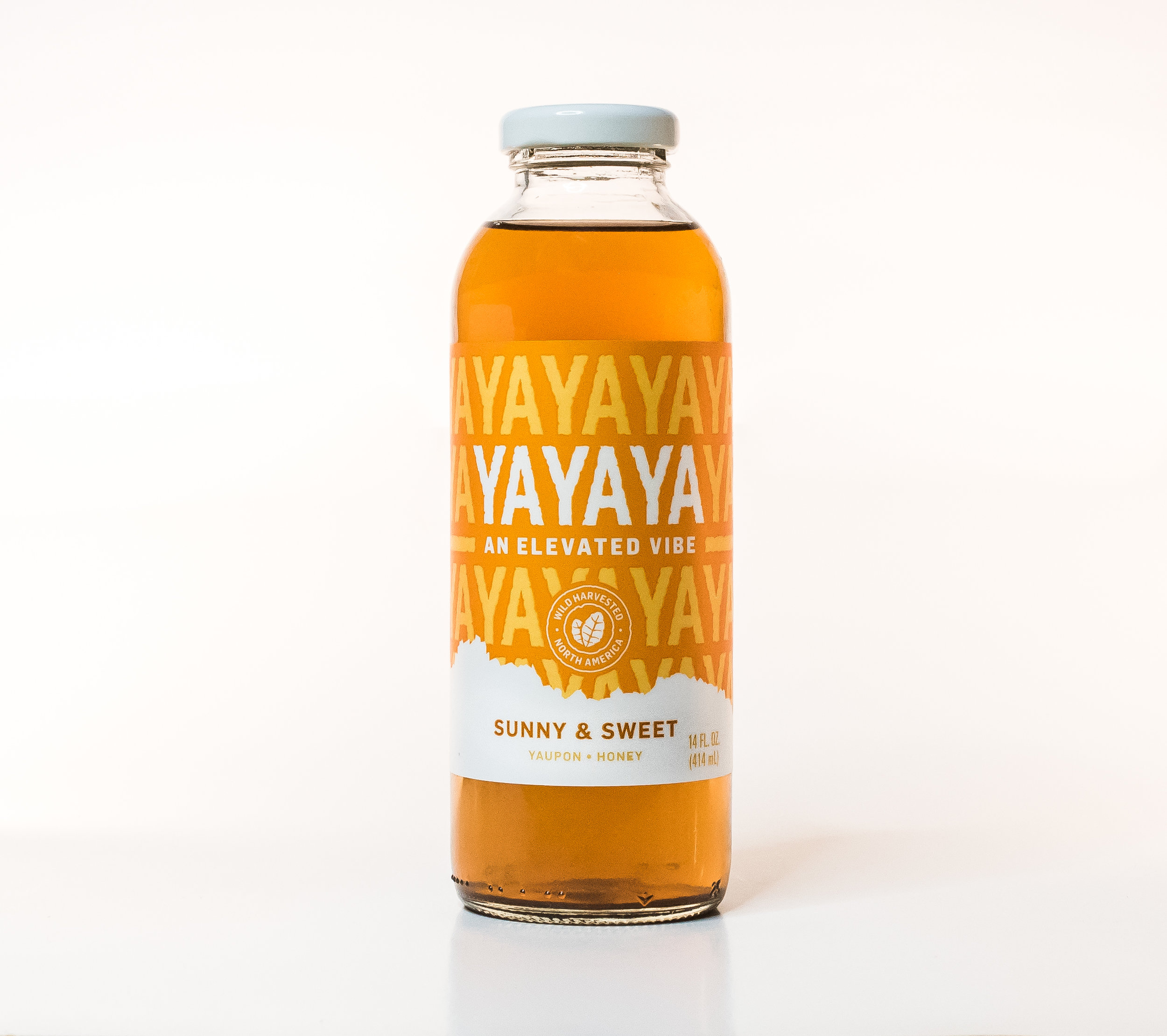 """Sunny & Sweet - Yaupon. Honey. A bit sweeter: our low-calorie solution to a Texas """"sweet tea."""" 45 Calories."""