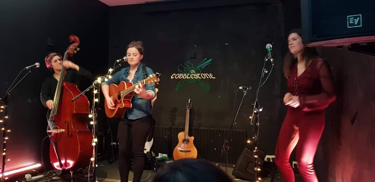 with Jane Willow at The Cobblestone, Dublin