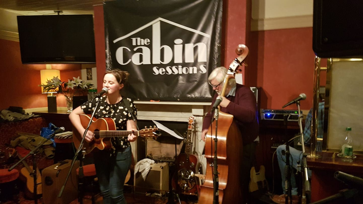 with Dave Fleming at The Cabin Sessions, Dublin
