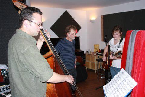 Recording session with Dan Bodwell and Noel Bridgeman