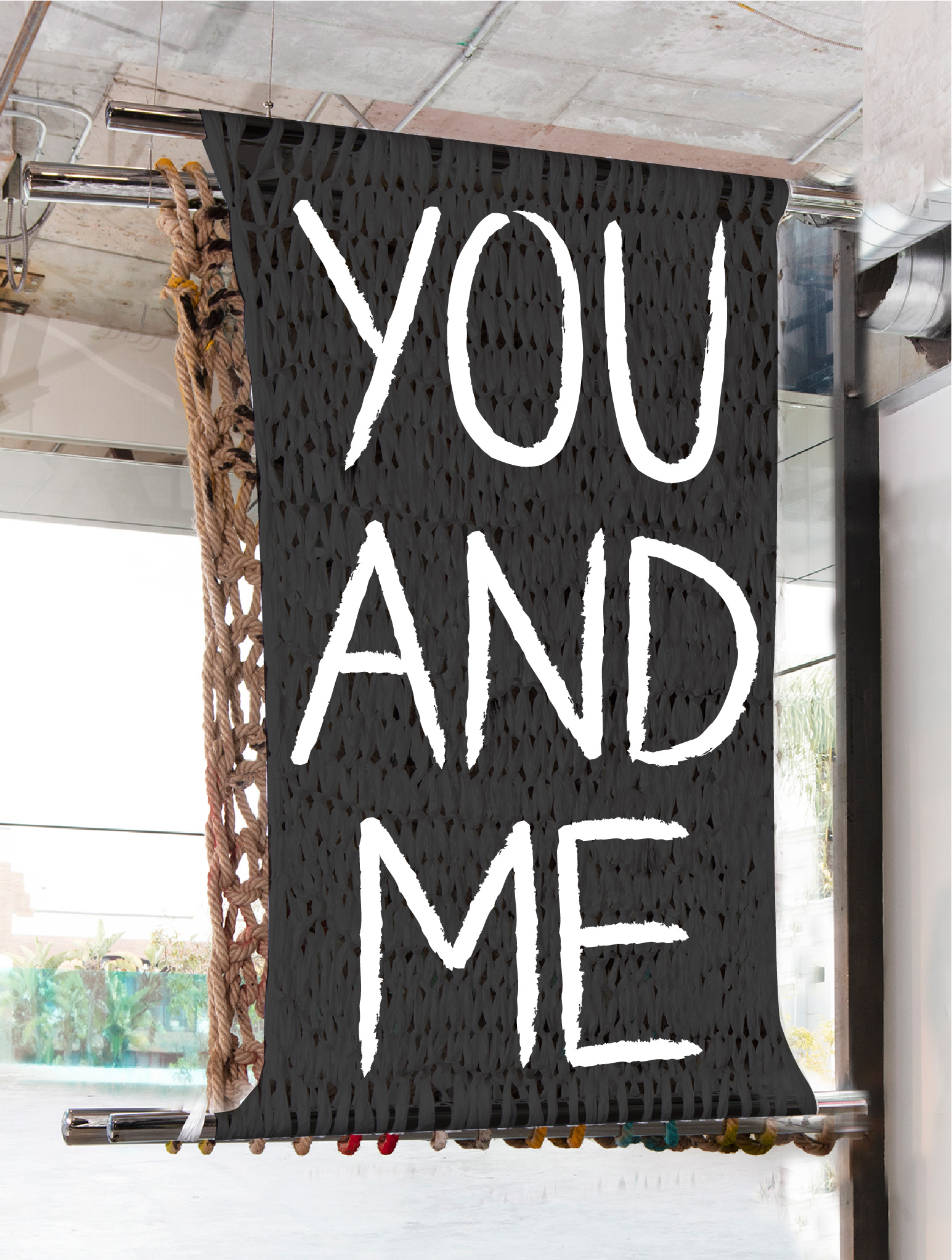 YOU AND ME | 5 X 4' | PAINT ON PLASTIC
