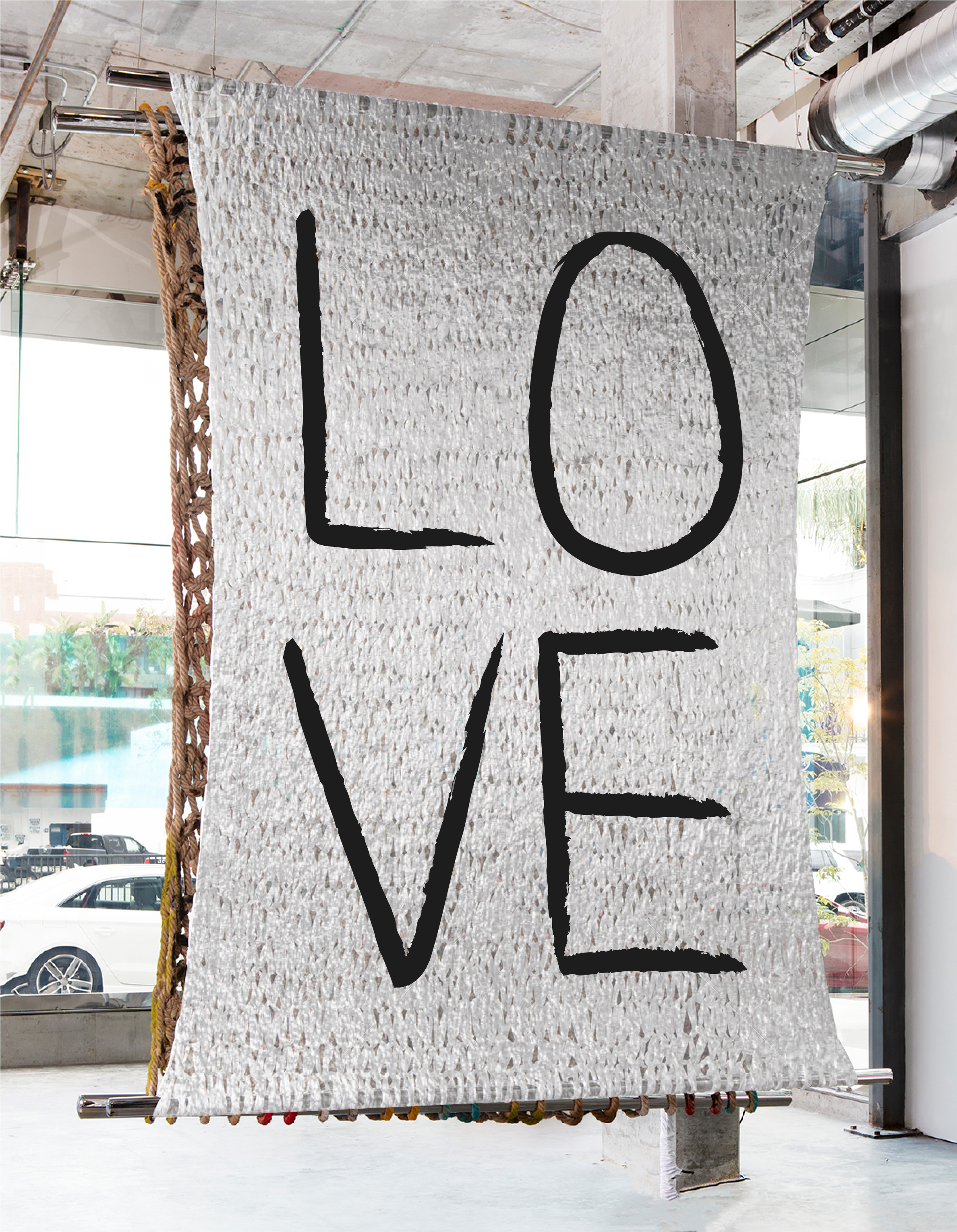 LOVE | 10 X 8' | PAINT ON PLASTIC
