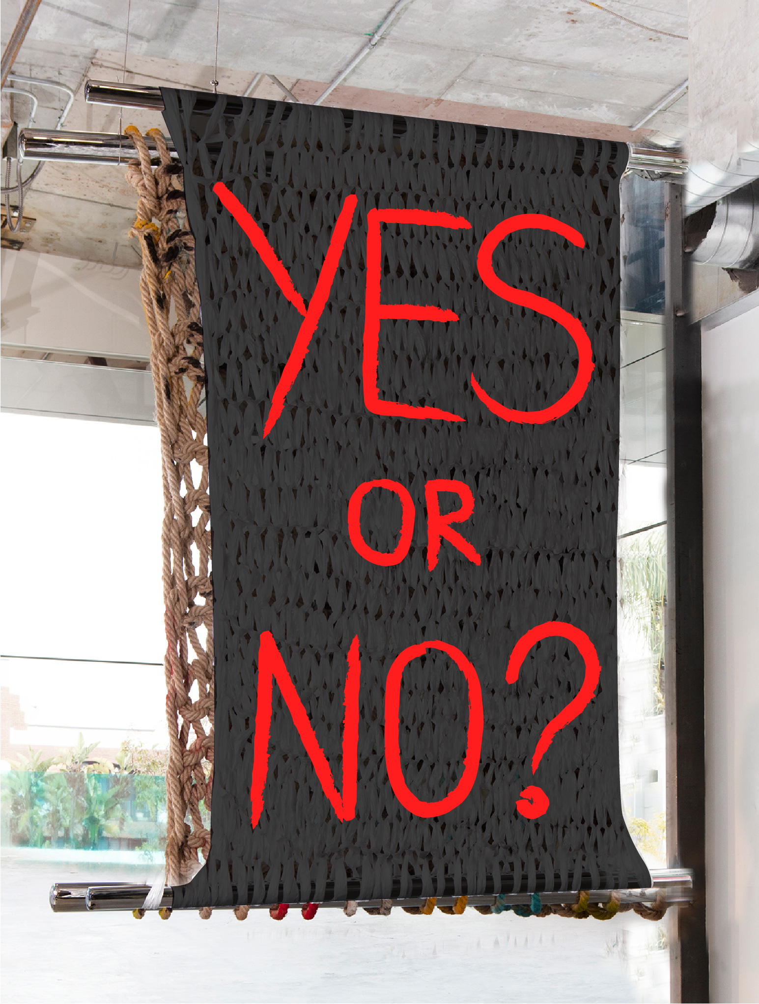 YES OR NO? | 5 X 4' | PAINT ON PLASTIC