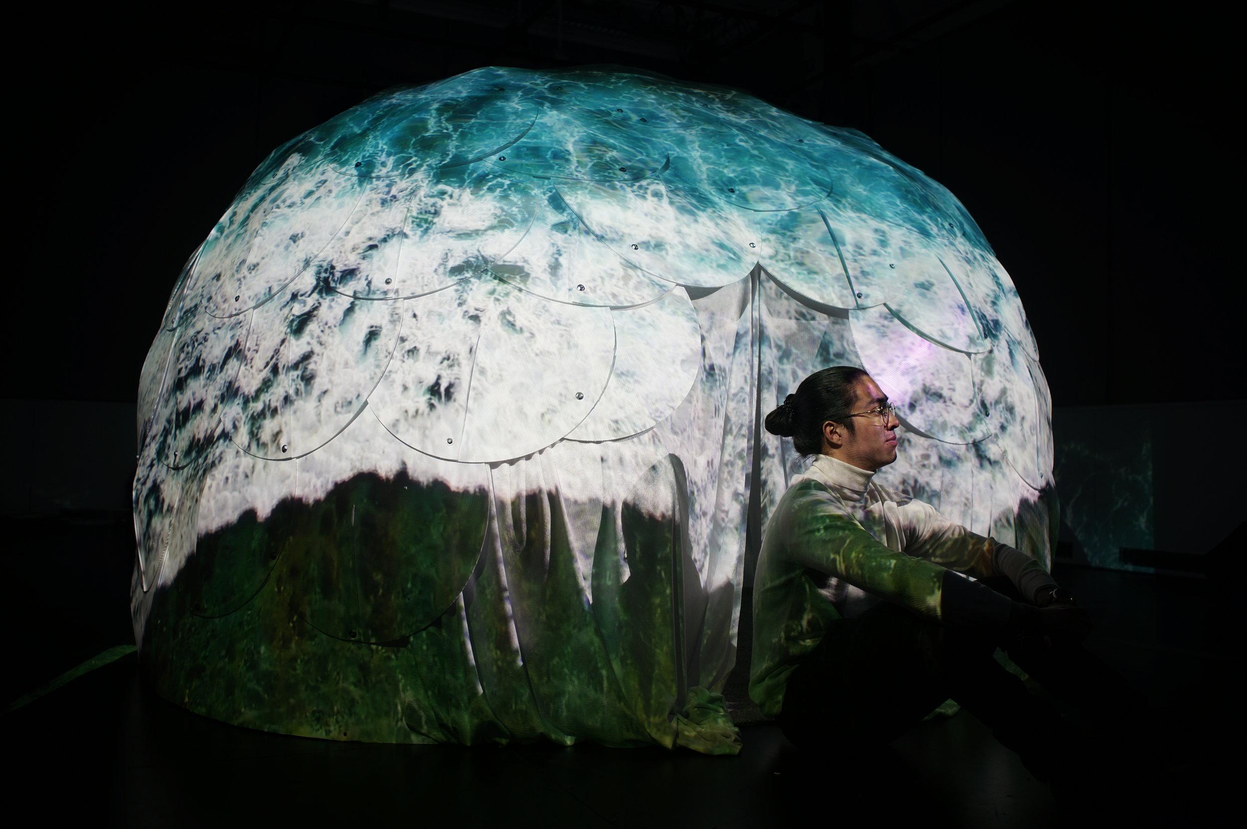 Ocean Room  Immersive installation and sculpture-space Duke University Rubenstein Arts Center, February 1-24