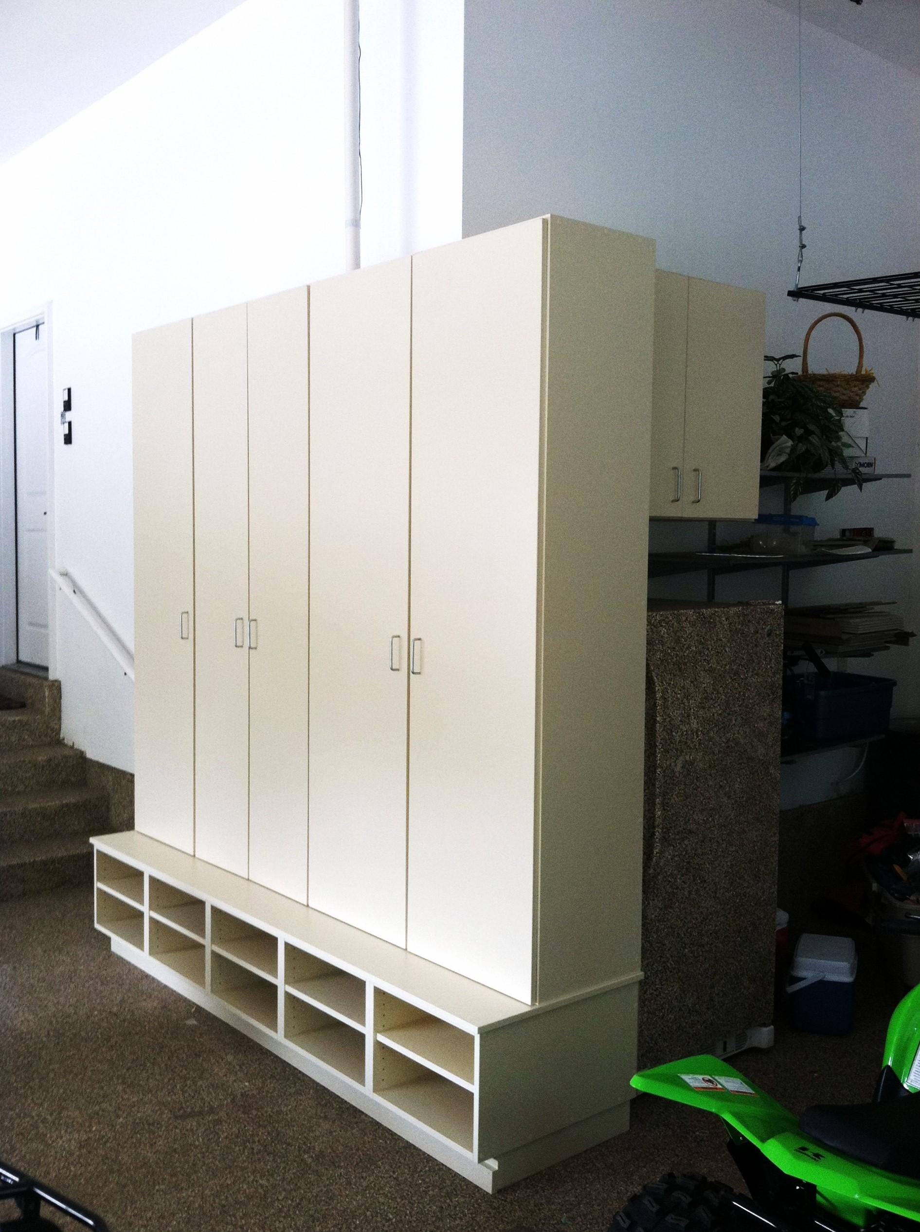 Garage lockers w shoe cubbies.JPG