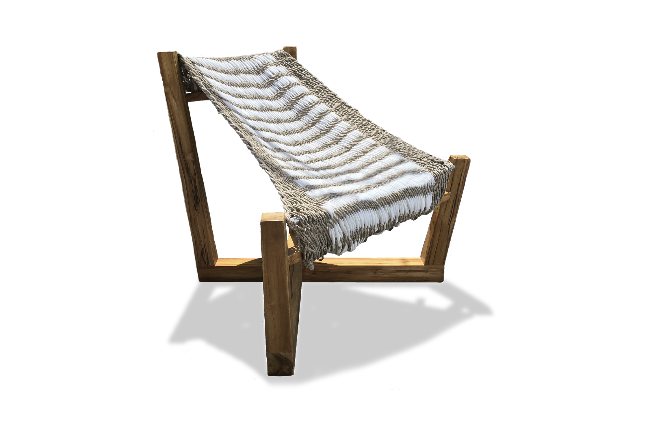Chair with traditional hammock fabric.