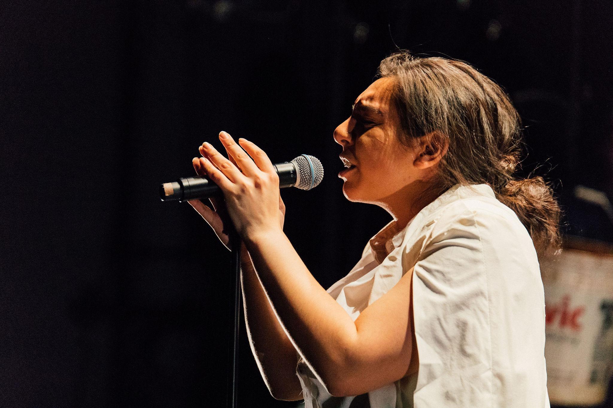 Amber as Shen Te in GPOS: A Karaoke Play