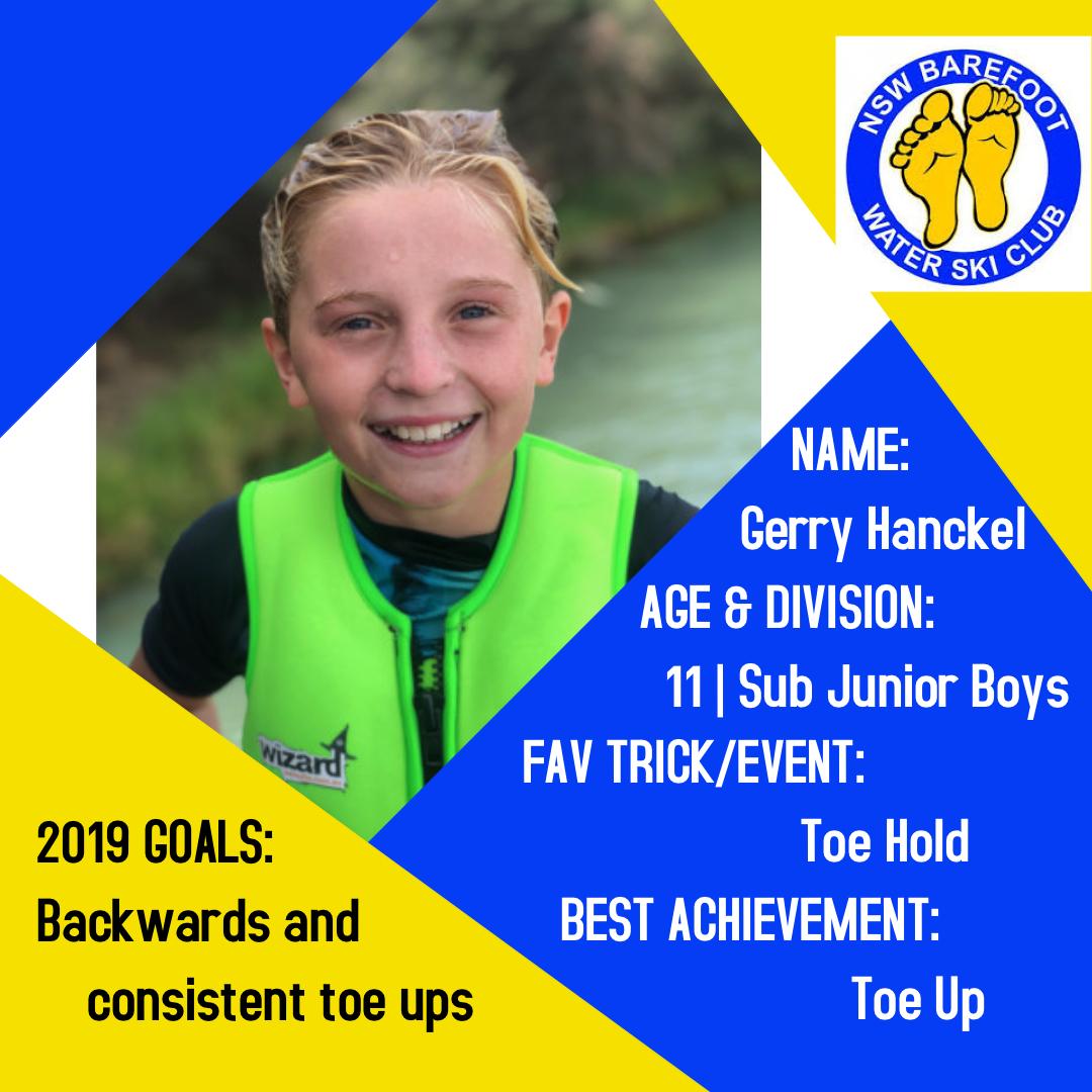 Gerry Hanckel   11│Sub Junior Boys