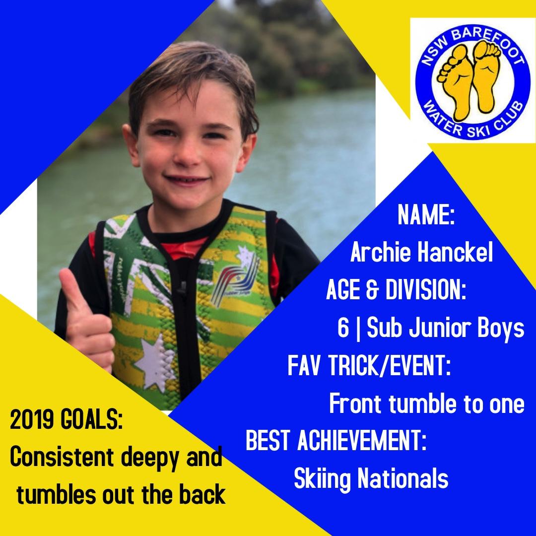 Archie Hanckel    6 │Sub Junior Boys