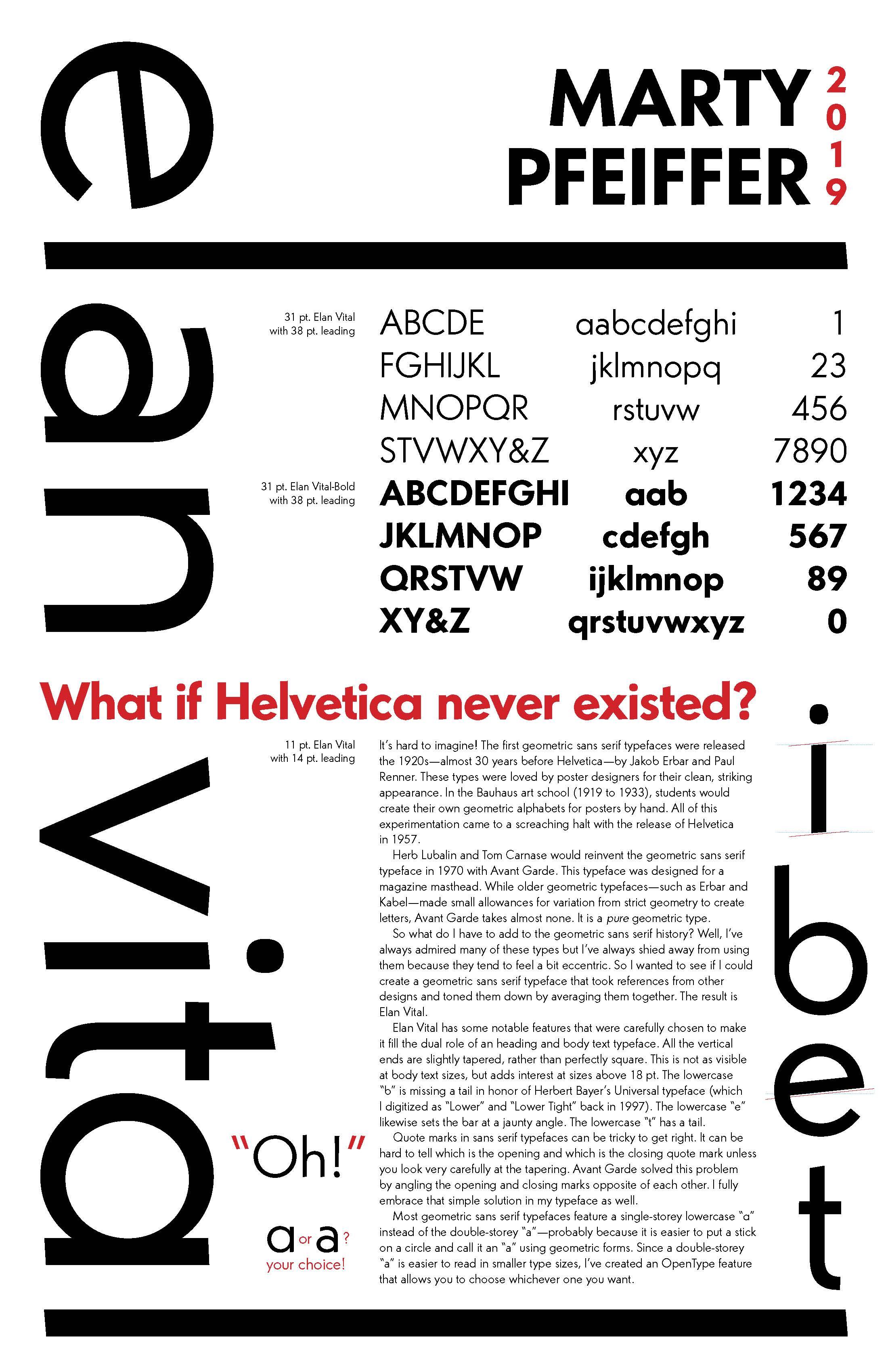 Marty Pfieffer: Bauhaus Typography