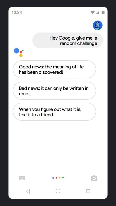 Google Assistant Random Challenges    Client: Google