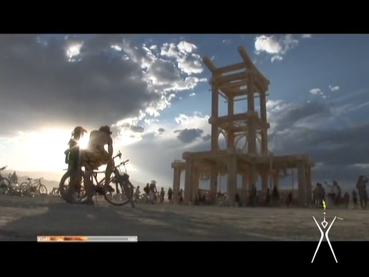 TV Free Burning Man    Produced for Current TV