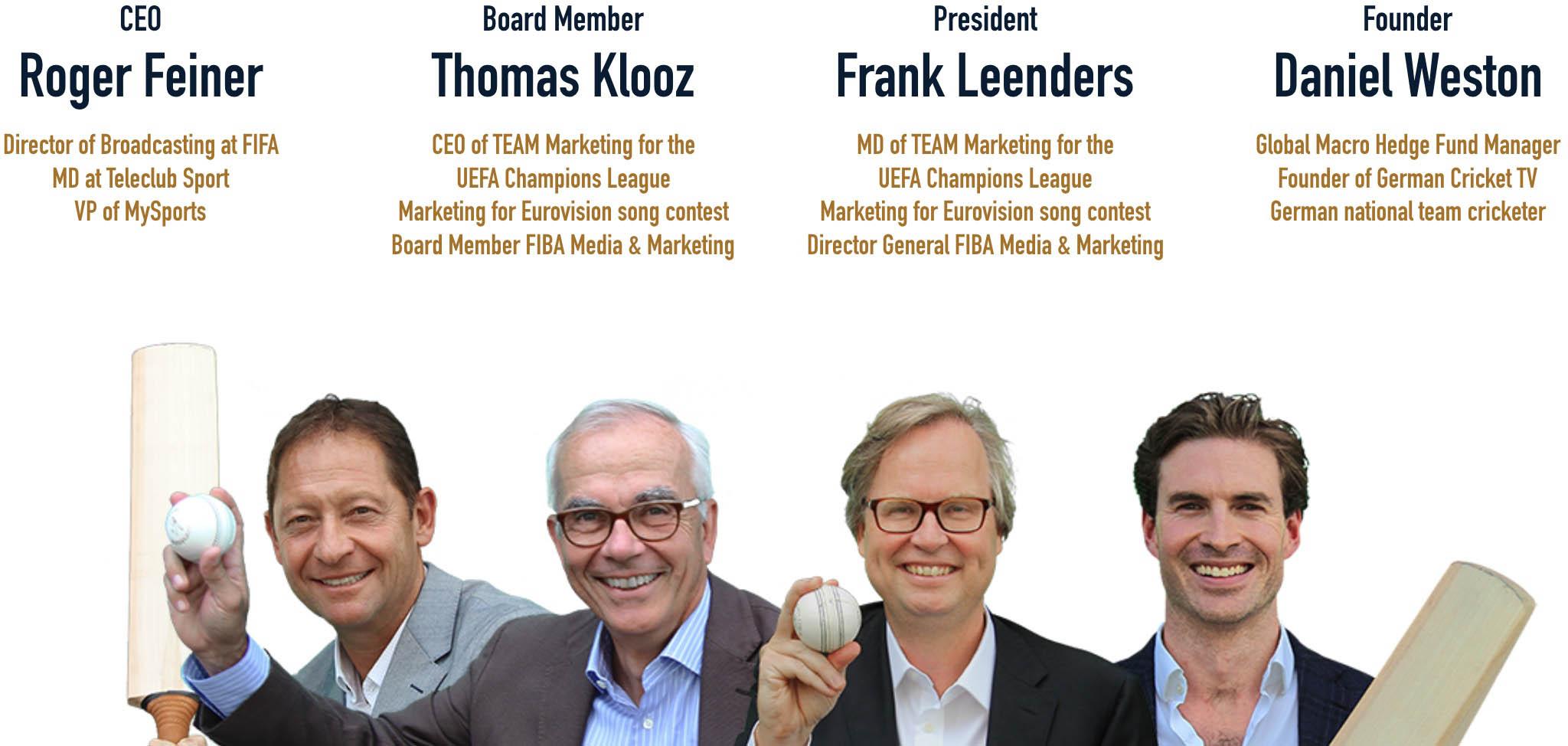 European Cricket League - Roger Feiner, Thomas Klooz, Frank Leenders, Daniel Weston