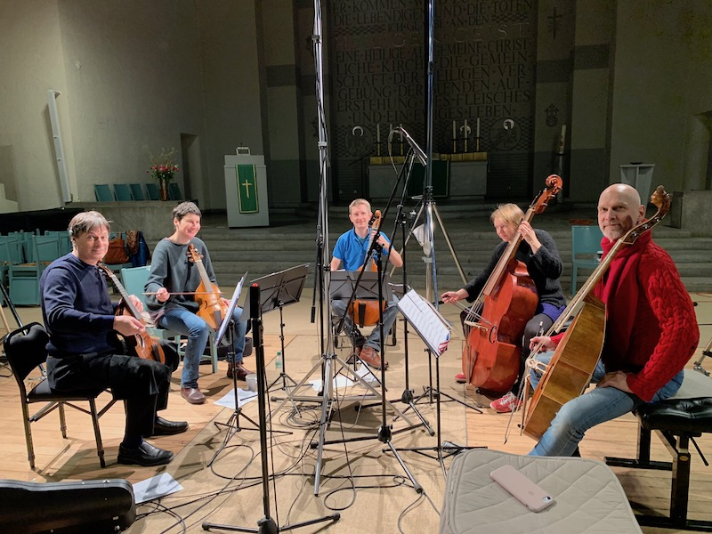 Recording Session Christus Kirche Berlin-Dahlem