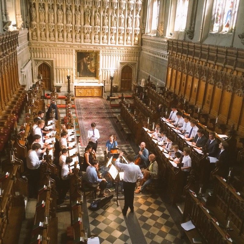 John Ward Recording Session at Magdalen College Oxford