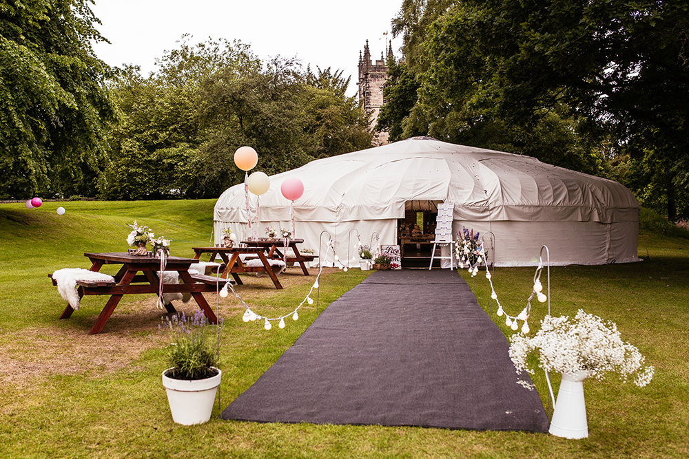 Example of a Yurts wedding