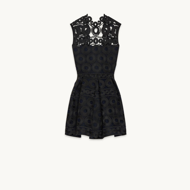 Maje Bonded Lace Dress