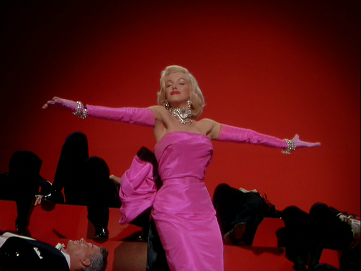 Marilyn Monroe as Lorelei in Gentlemen Prefer Blondes
