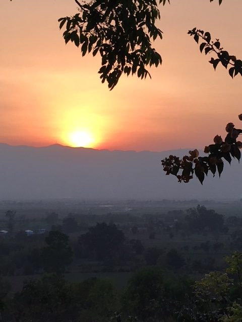 Sunset in Shan State