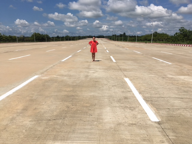 The empty 10 lane highways of the Nay Pyi Taw