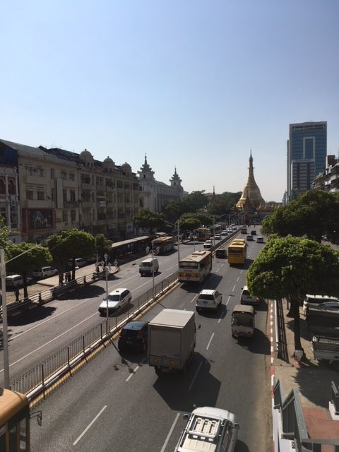 Downtown Yangon skyline