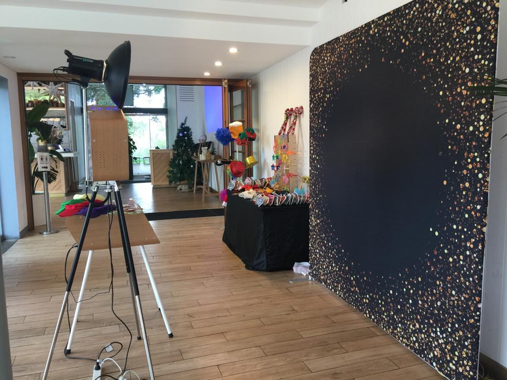Retro + Gold Confetti backdrop