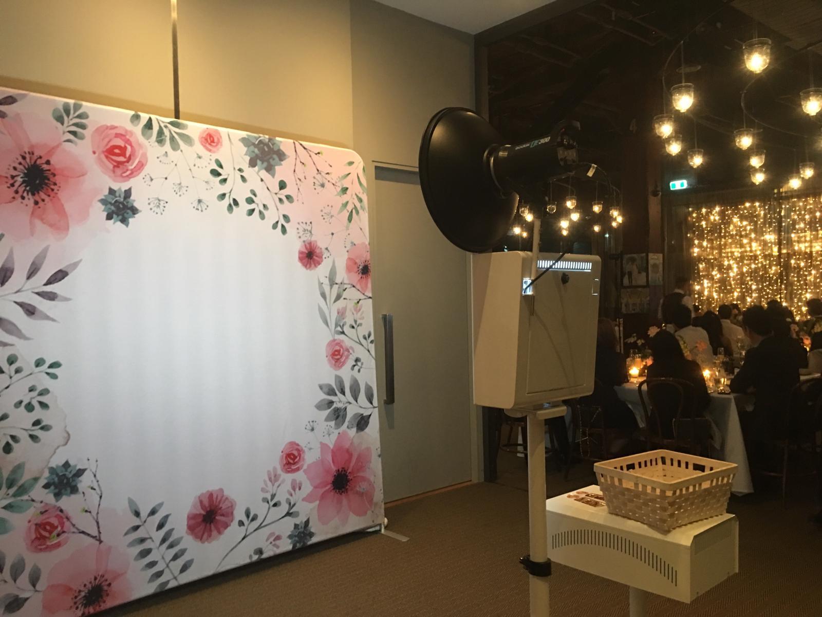 Retro + Blossoms backdrop