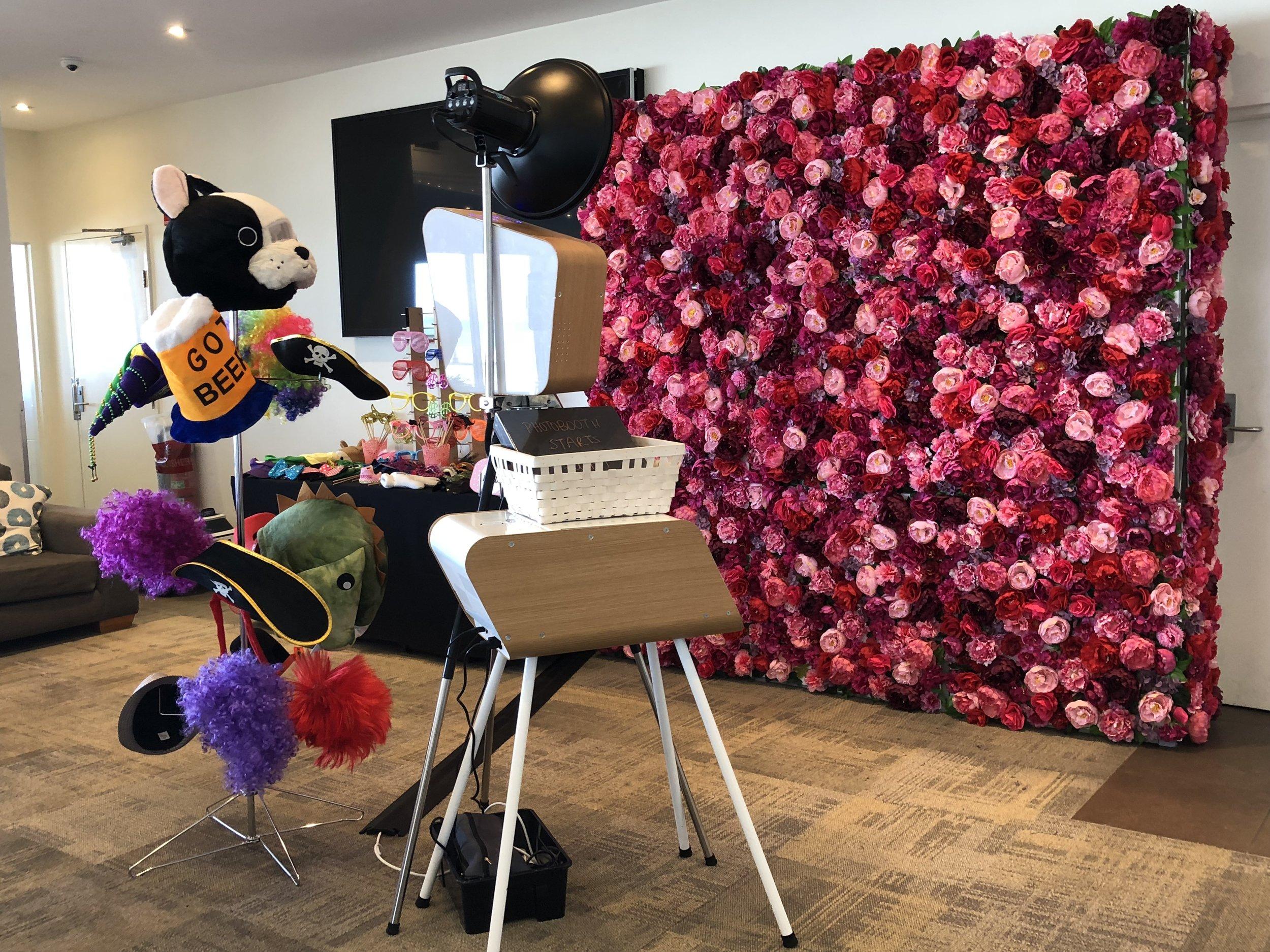 Retro + Enchanted Floral Wall