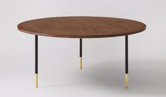 Galway Coffee Table, Mango Wood & Brass