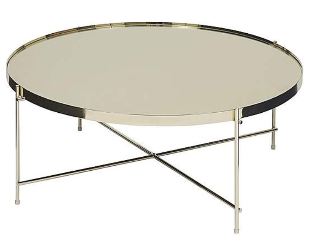 Oakland Circular Gold Coffee Table - Gold