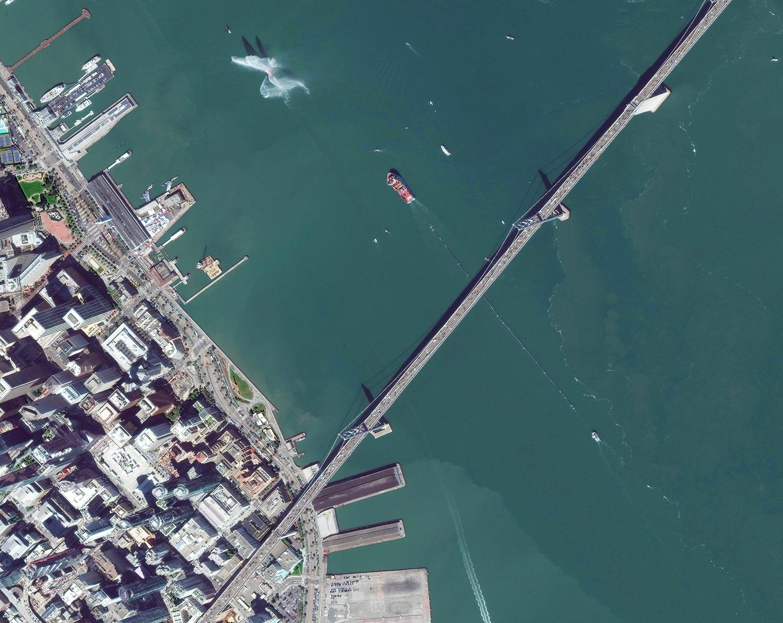 Image courtesy of Digital Globe 9/8/18. Coordinates 37.79N, 122.39W.