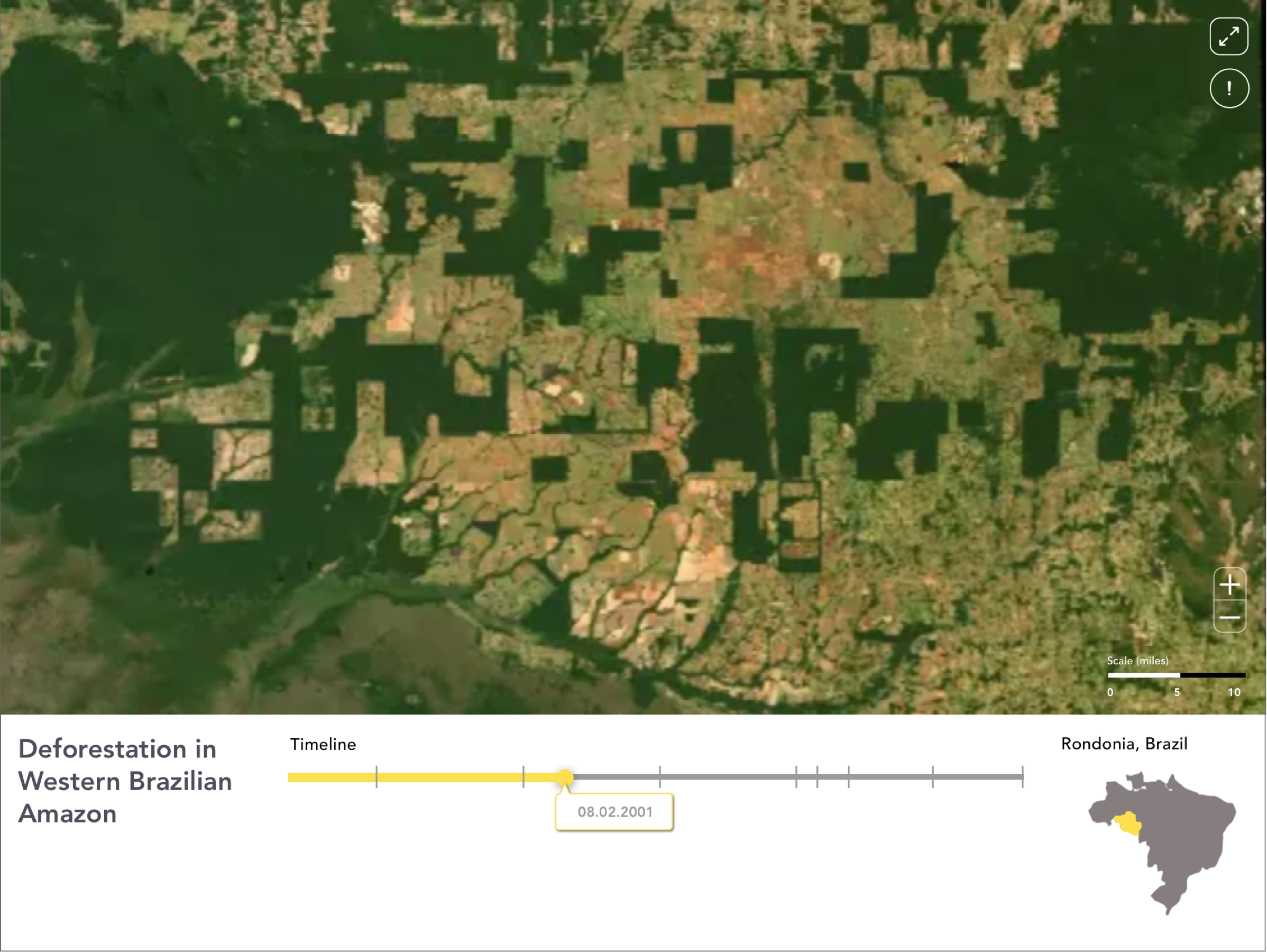 Data visualization tools - We utilize AI analytics to put the impact of climate change into context. We develop resources that enable better storytelling from space through satellite imagery.