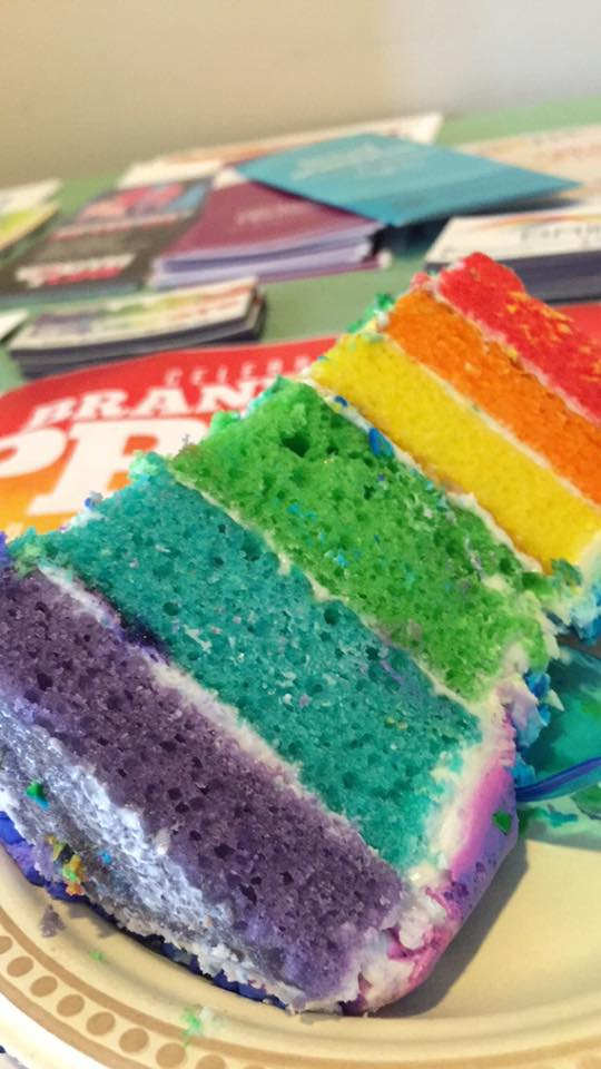 Pic of cake and Pride Guide.jpg