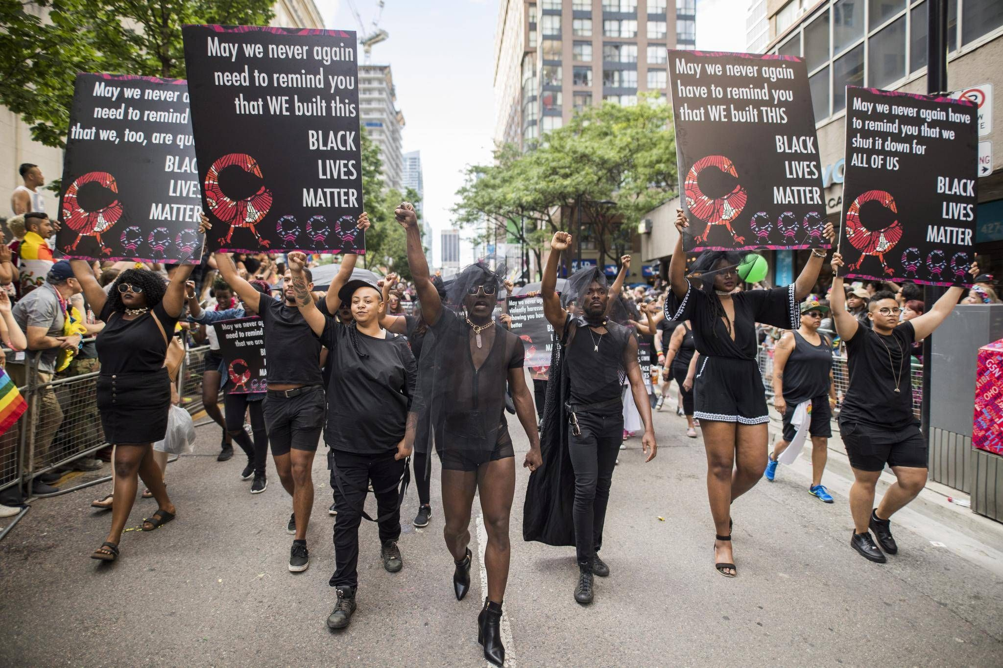image of BLM at Toronto Pride 2017 from  Globe & Mail