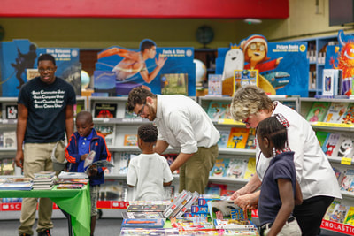 Jacksonville Non Profit Builds Readers by Hosting Book Fairs, Giving Students Spending Money  Florida Times Union  May 17, 2018 by Beth Reese Cravey