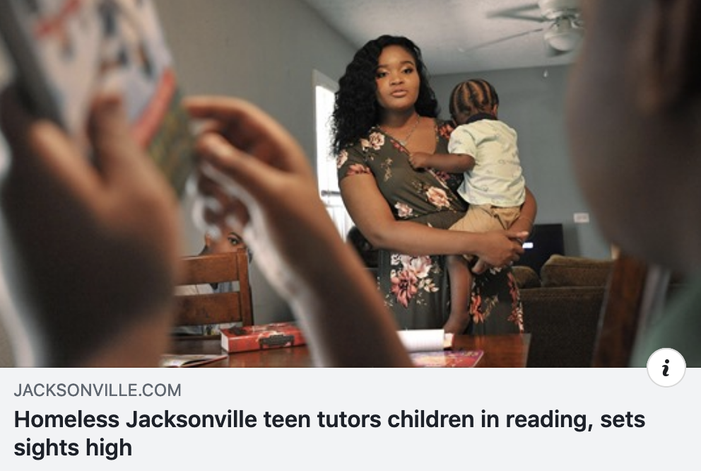 Read USA teen tutor, formerly homeless, now has been goals The Florida Times-Union 08/04/2019