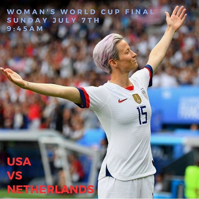 You already know!  See you Sunday at 9:45am!! LET'S GO USA!! 🇺🇸 • • • • • #womansworldcup #victorypark #herobyhg #watchparty #dallaseats #soccer #womanssoccer #usa #2019