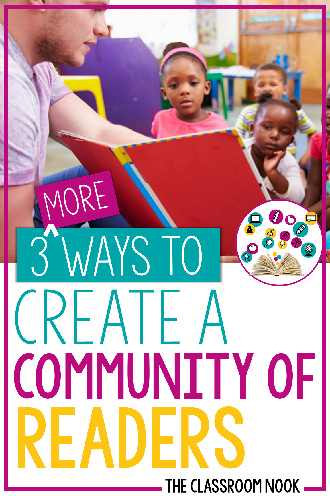 Want to create a positive community of readers in your elementary classroom? This post has 3 ideas to incorporate into your classroom to help establish a classroom community around reading! #classroomcommunity #reading #elementary #teacher