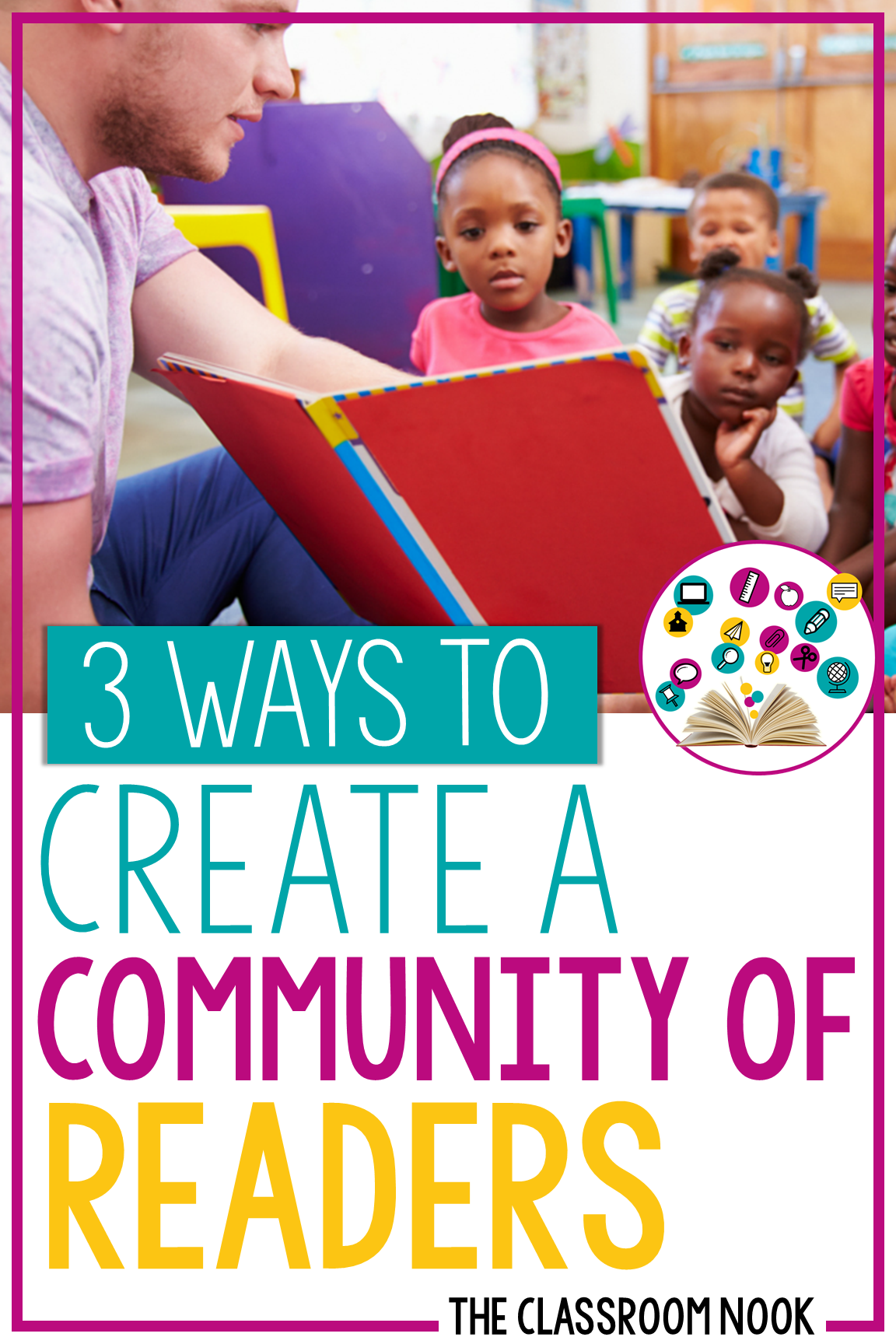 These 3 simple ideas will help you establish a positive community of readers in your classroom! Find tips for getting students excited about reading with their classmates #classroomcommunity #readers