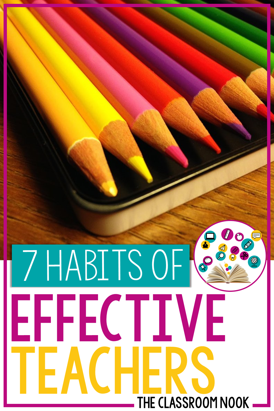 Our teaching habits can often determine how effective we are with our students. Want to know what makes your teaching the most effective? Check out these 7 habits of effective teachers #teacher #teaching