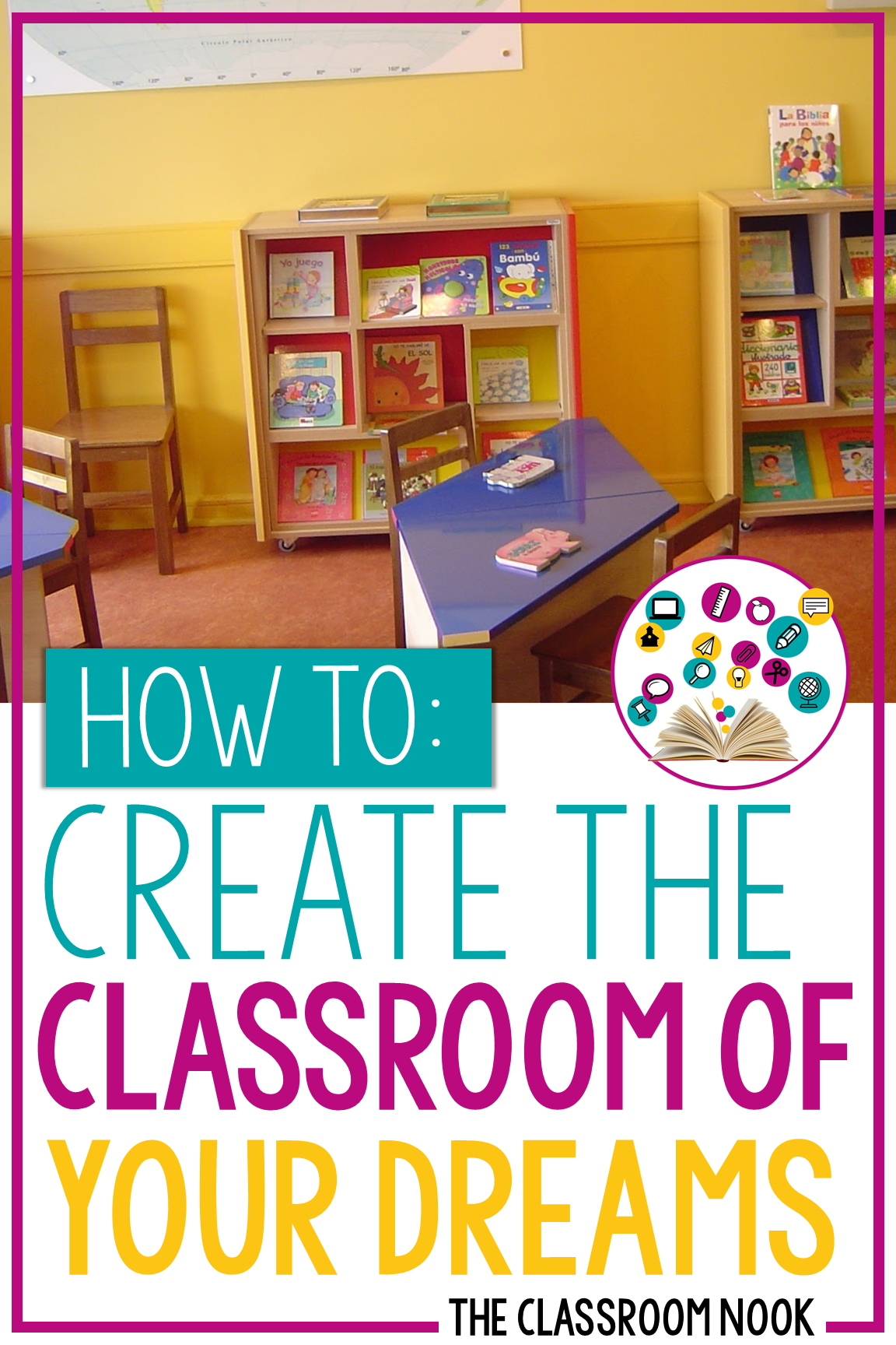 Want to create a classroom that wows your students? Check out this post with tons of tips on how to choose a classroom theme or color scheme, how to DIY your classroom look and other tips for getting your classroom ready for the school year! #backtoschool #classroomdecor #classroomdecorations
