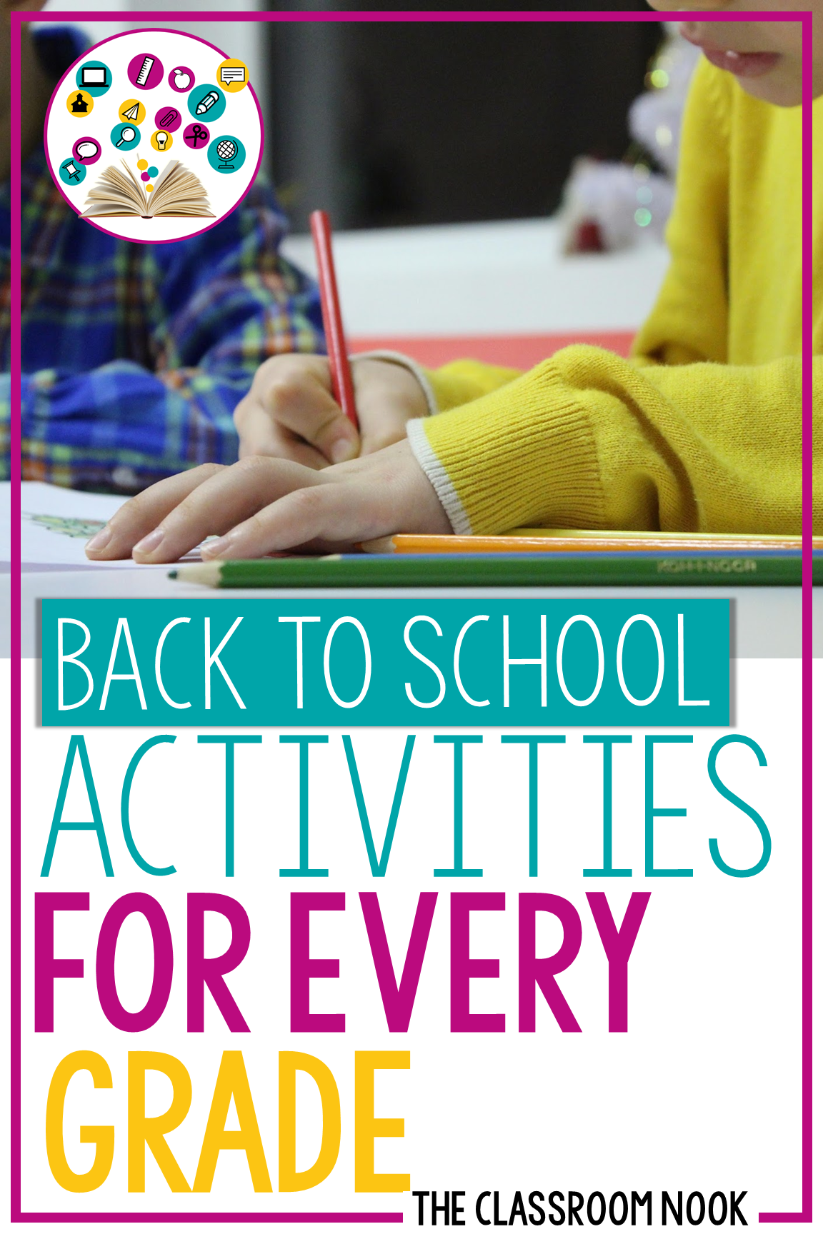 No matter what elementary grade you teach, this post is loaded with back to school crafts, games, and activities for every level! #backtoschool #gettoknowyouactivities