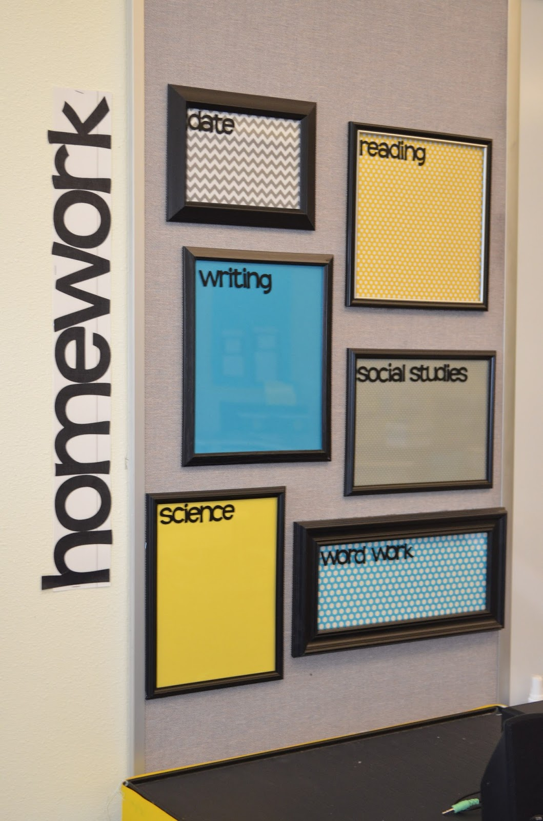 Homework Dry Erase Boards