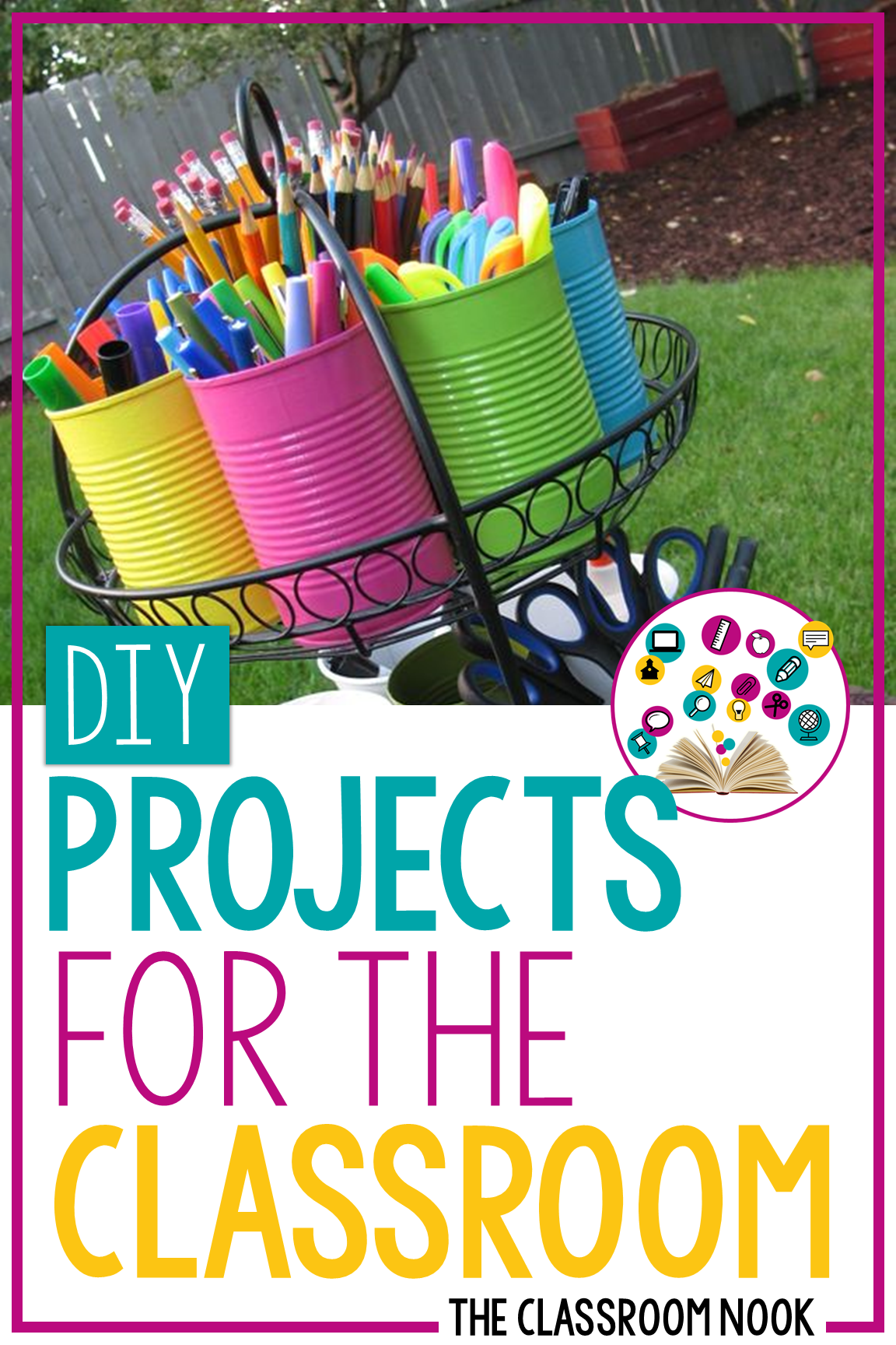 Check out this post for some DIY (do-it-yourself) projects that you can create for your classroom. These are projects for even level - beginning, intermediate, and advance DIY-ers! #classroomdiy #diy #backtoschool