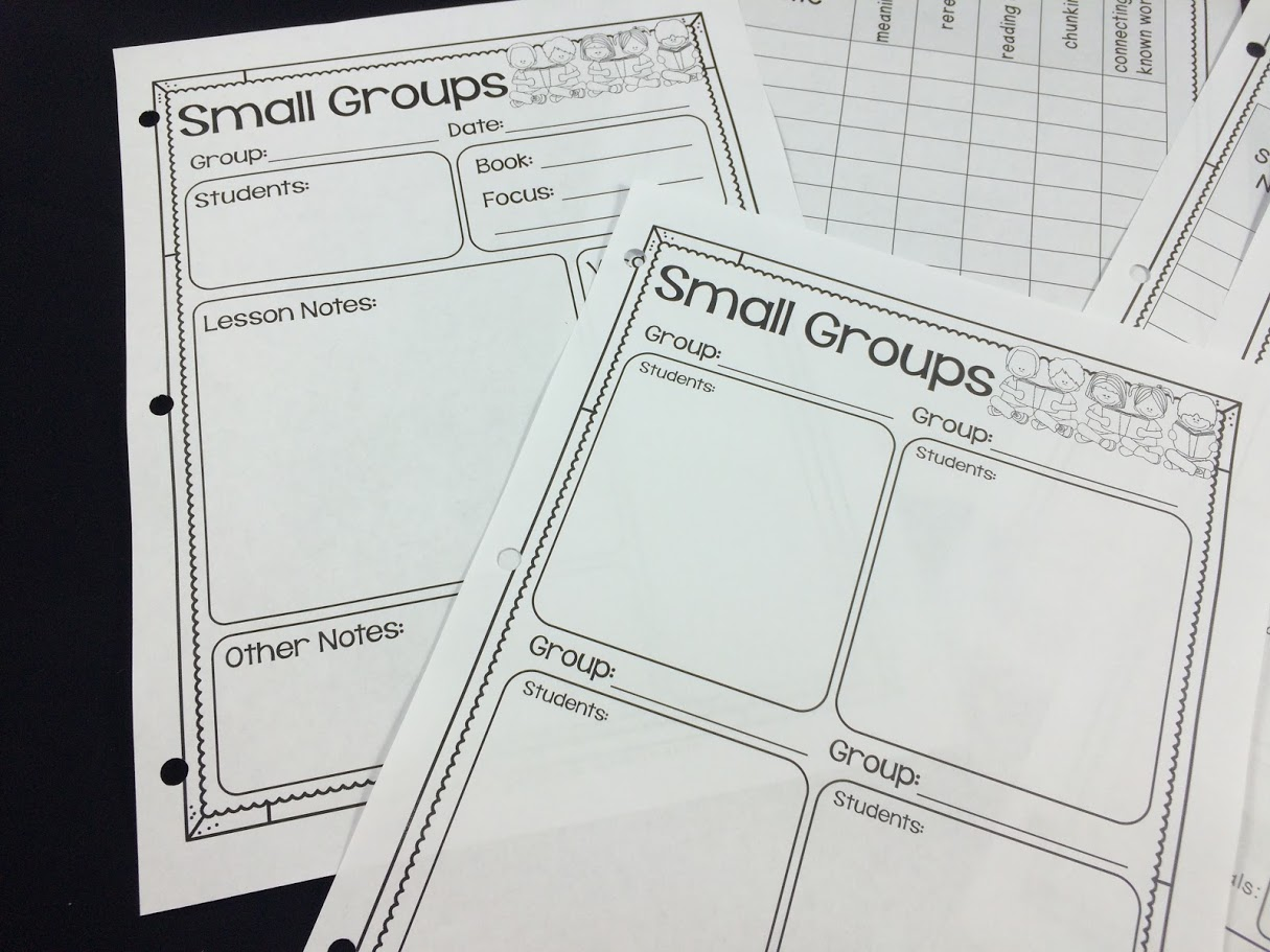 Using a simple form during guided reading time allows you to keep track of your students' reading progress.
